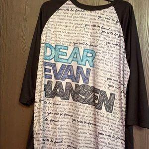 Dear Evan Hansen baseball shirt
